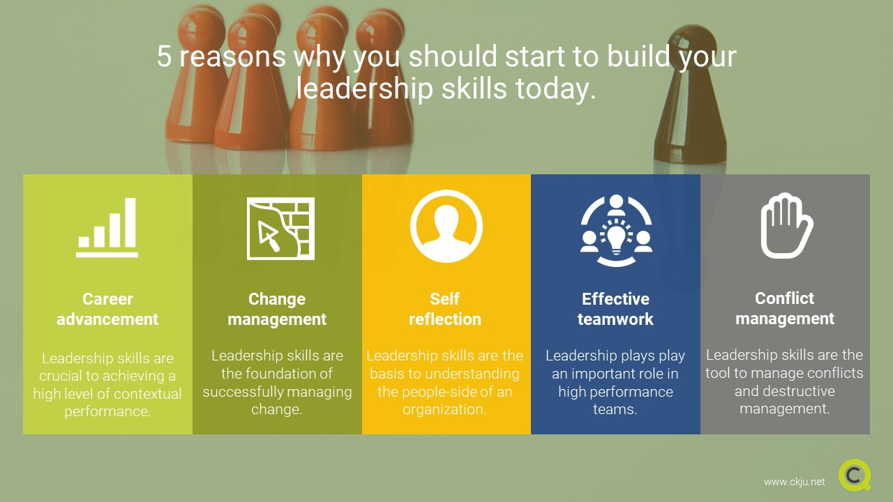 5 reasons why you should start to build your leadership skills today