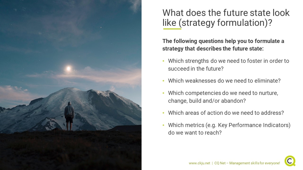 Strategy formulation: How does the future state look like?