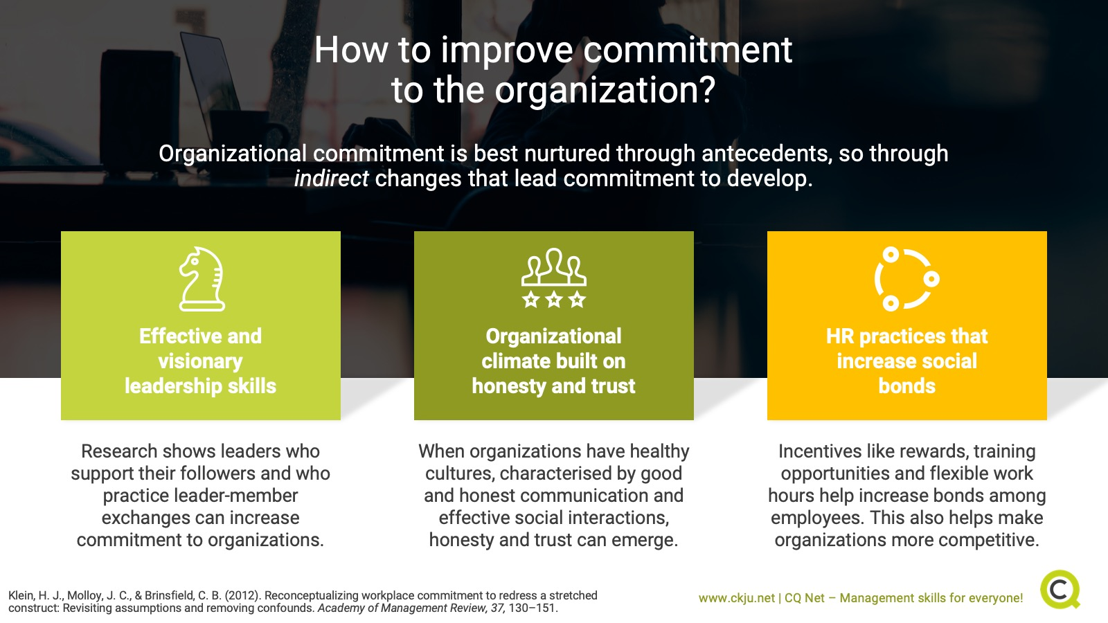 How to improve commitment to the organization?
