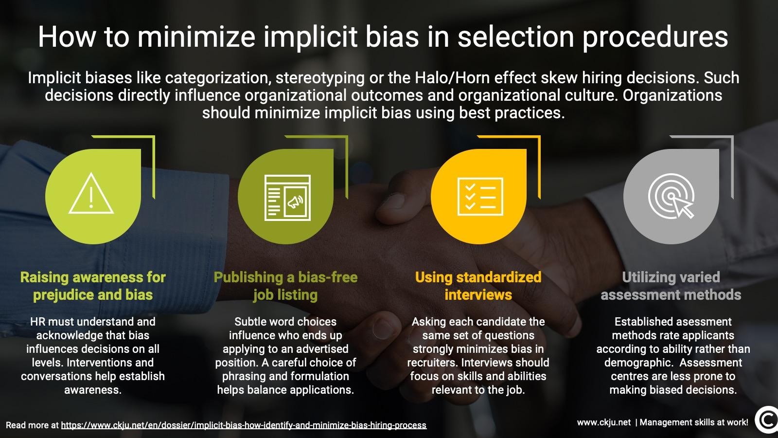 Implicit bias in the hiring process