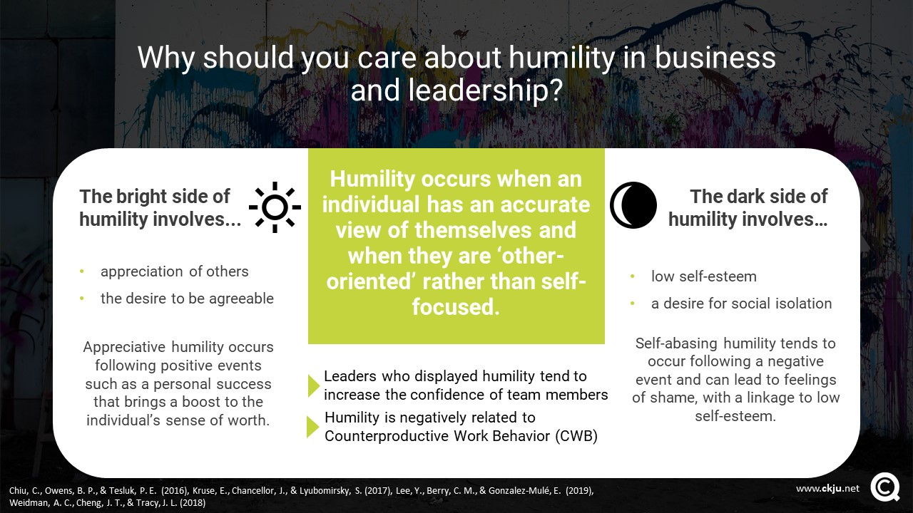 The benefits of humility in business and leadership