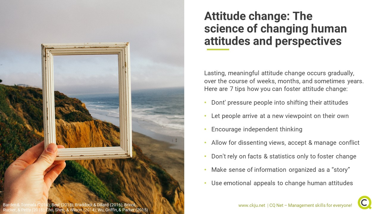 7 tips how to manage attitude change in an effective way