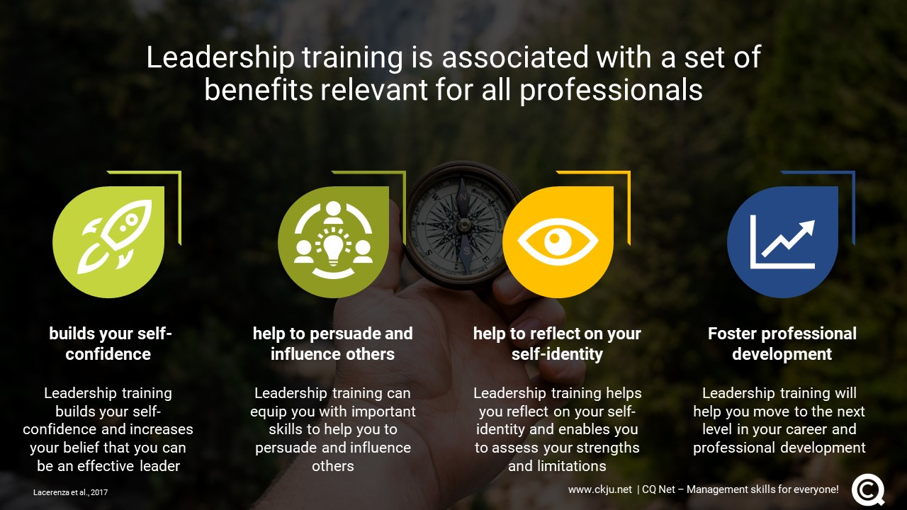 Leadership training is associated with a set of benefits relevant for all professionals
