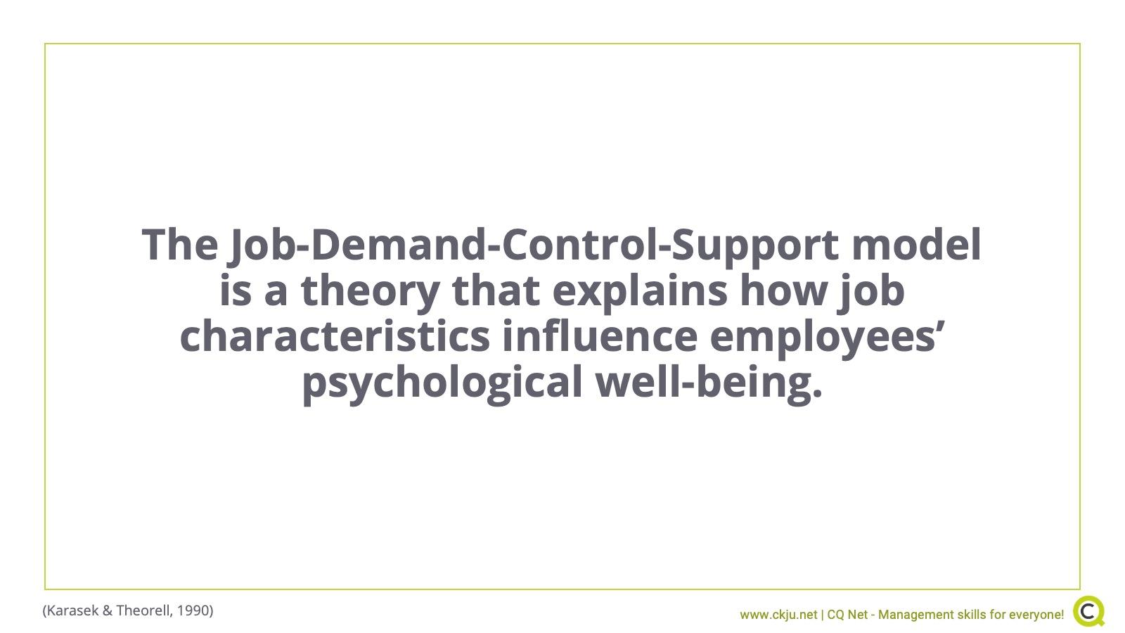 Job-Demand-Control-Support Model