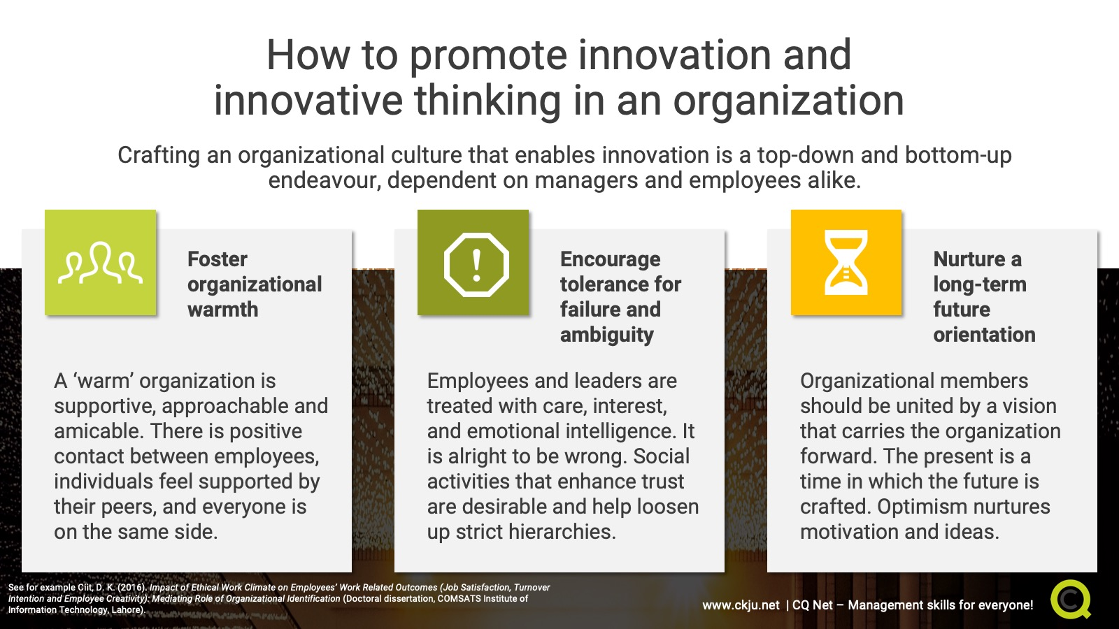 How to promote innovation and innovative thinking in an organization