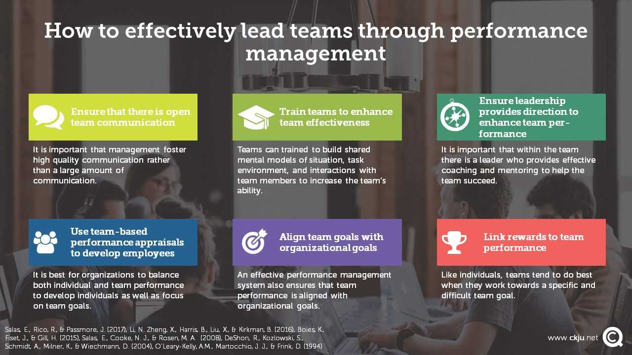 We provide a set of evidence-based management practices on how to effectively manage team performance