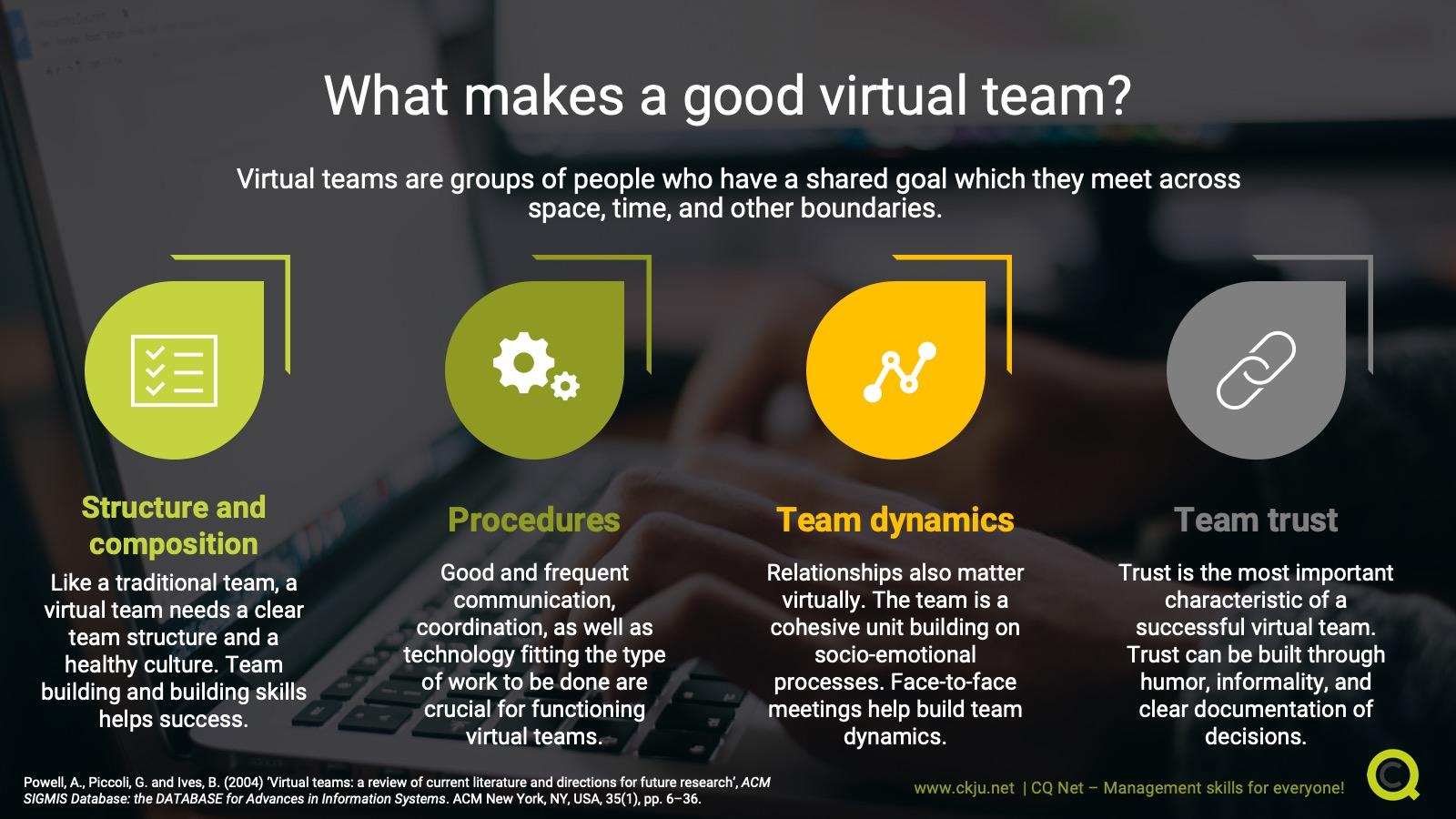 What makes a good virtual team?