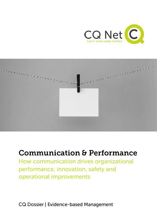 How communication drives organizational performance, innovation